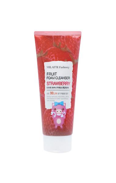 Купить Средство для умывания MILATTE Fashiony Fruit Foam Cleanser Strawberry 150 мл