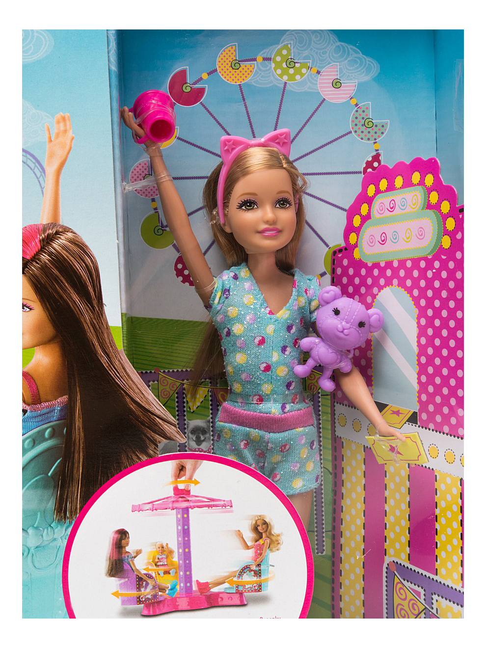 Кукла Barbie Аттракцион для сестер Барби + кукла Челси 9060X