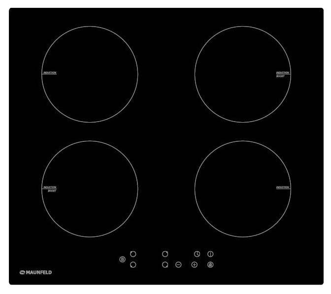 Встраиваемая варочная панель индукционная MAUNFELD EVI.594-BK Black фото