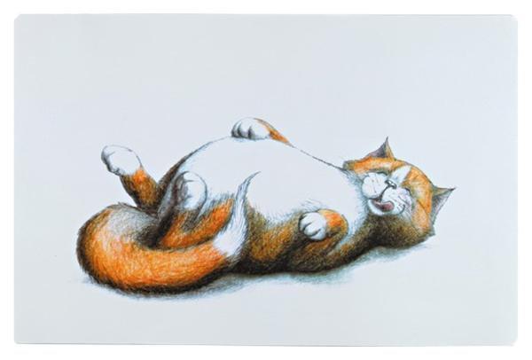 Trixie Коврик для миски Fat Cat, 44*28