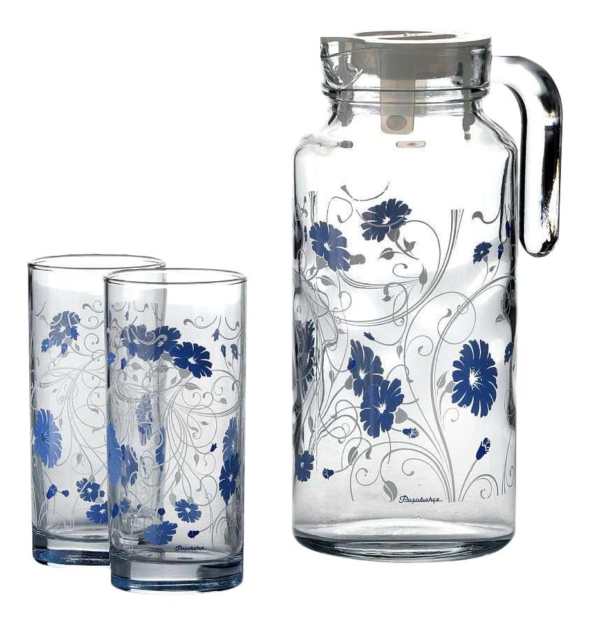 Набор стаканов и кувшин Pasabahce Serenade blue