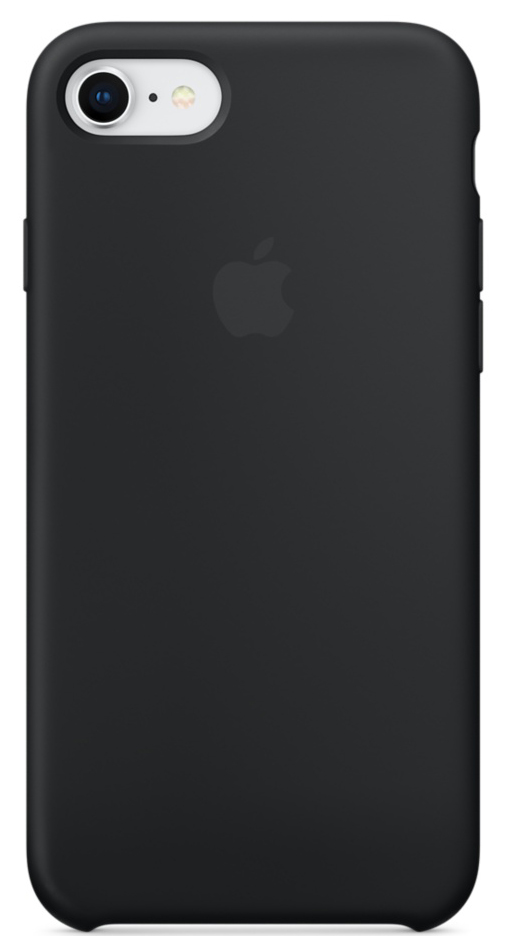Кейс для Apple iPhone 8 / 7 Silicone Case Black (MQGK2ZM/A)