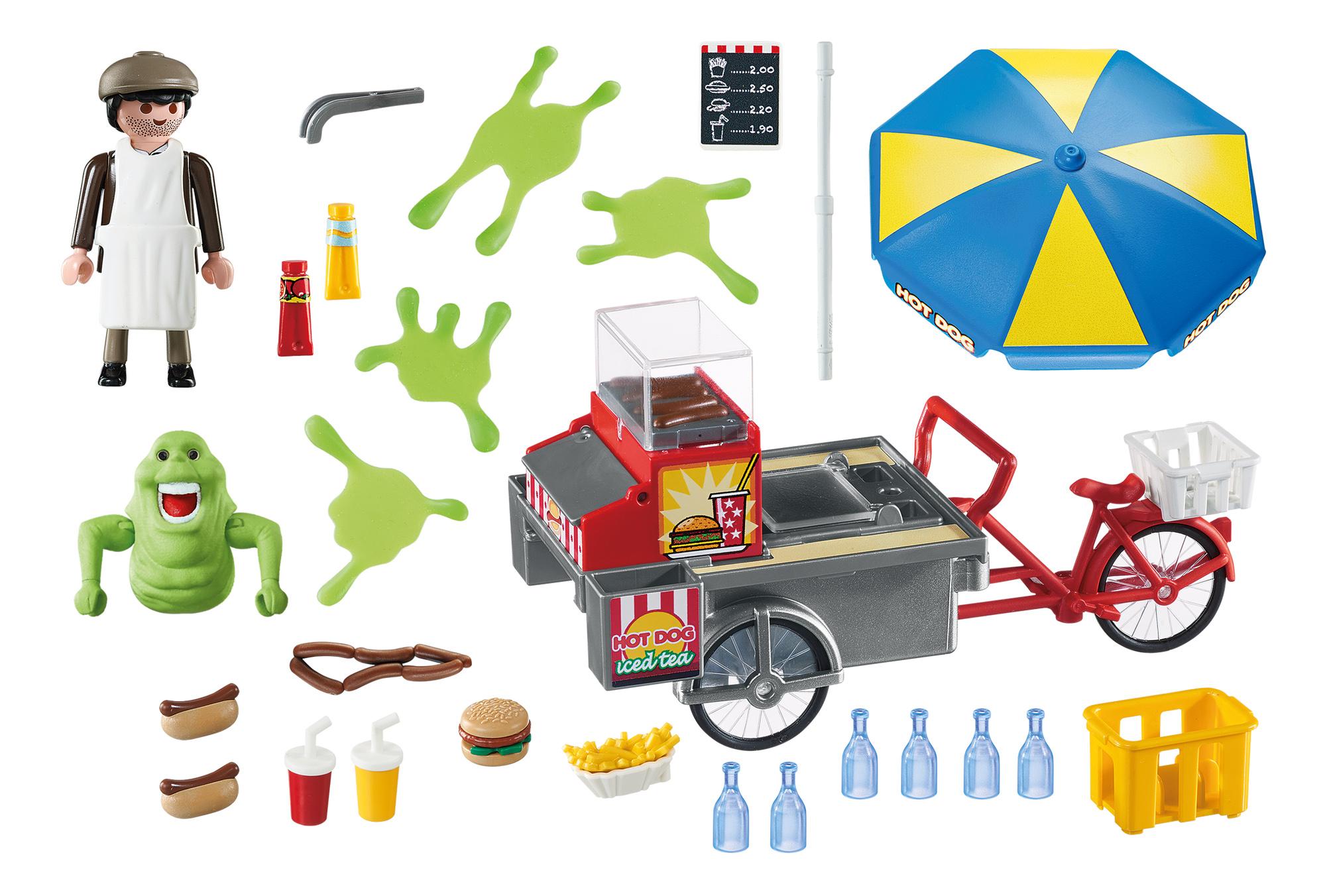 Игровой набор Playmobil Охотники за привидениями: Лизун и торговая тележка с хот-догами фото