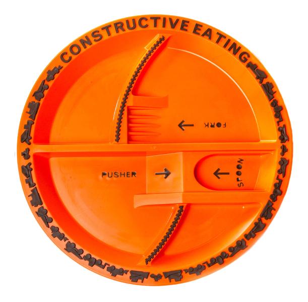 Тарелка детская Constructive Eating Строительная оранжевая