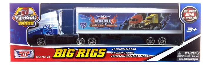 Коллекционная модель MotorMax Big Rigs с полуприцепом бело-голубая