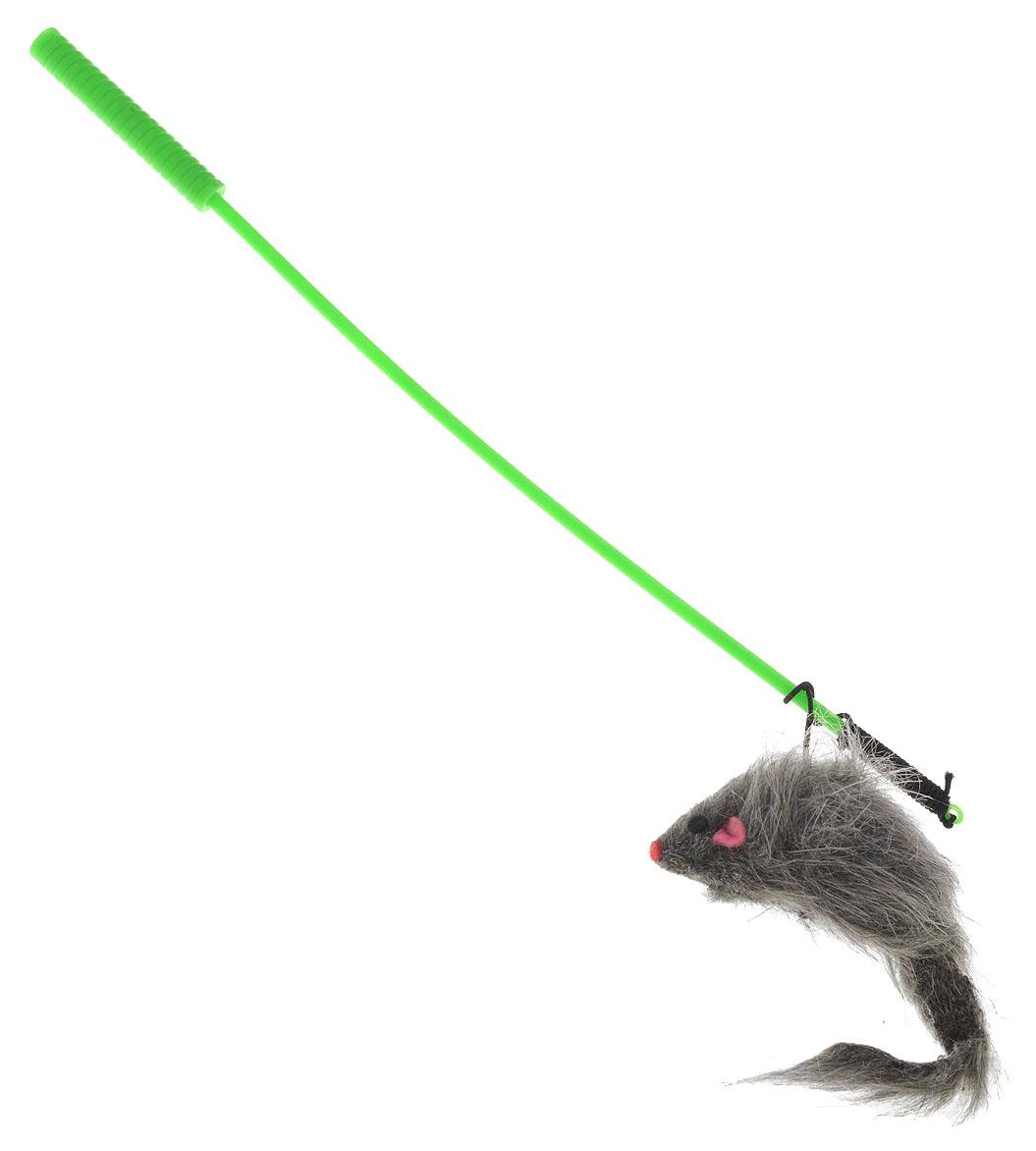Игрушка для кошек V,I,Pet Дразнилка удочка МЫШЬ