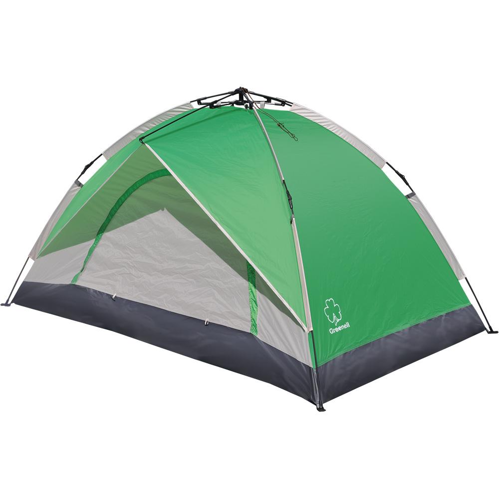 Палатка Greenell Коул двухместная зеленая/серая