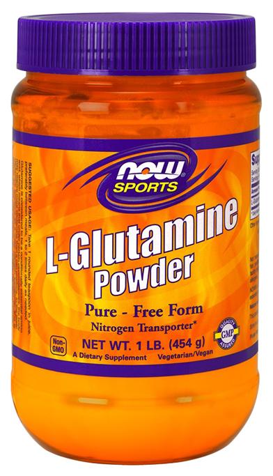 NOW Sports L Glutamine Powder 454 г