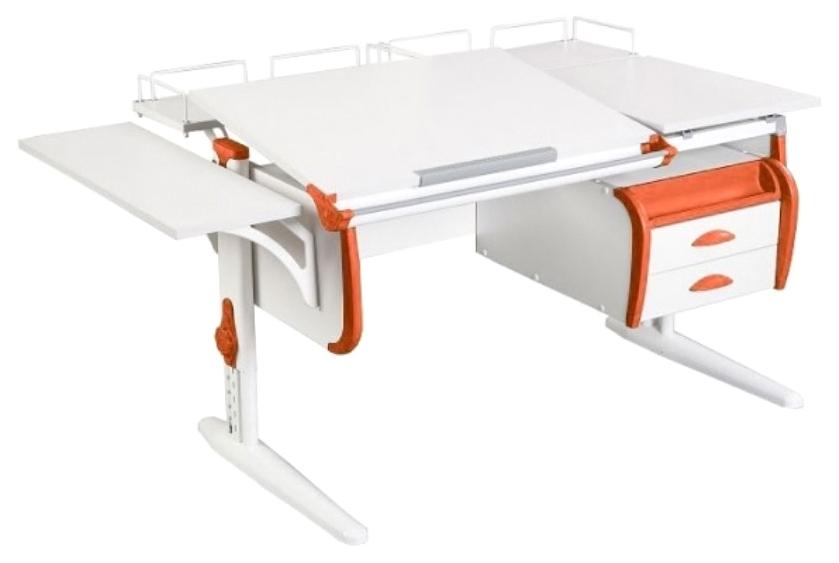 Парта Дэми White Double СУТ-25-05 Белый/Оранжевый