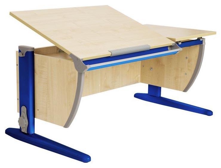 Парта Дэми СУТ 17-02Д2 с двумя задними двухъярусными и боковой приставками Синий 120 см