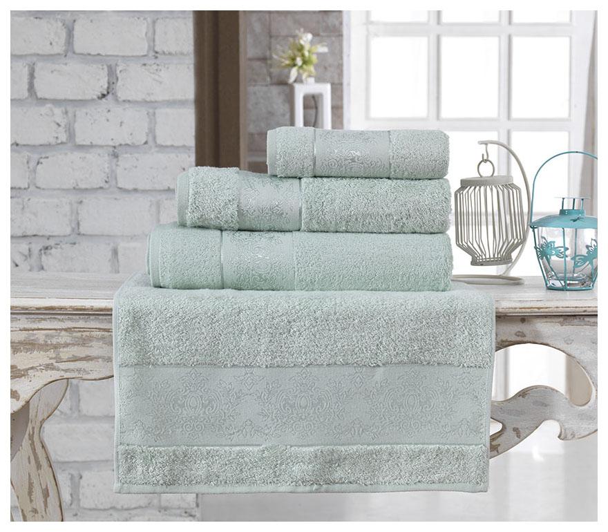 Банное полотенце, полотенце универсальное KARNA зеленый