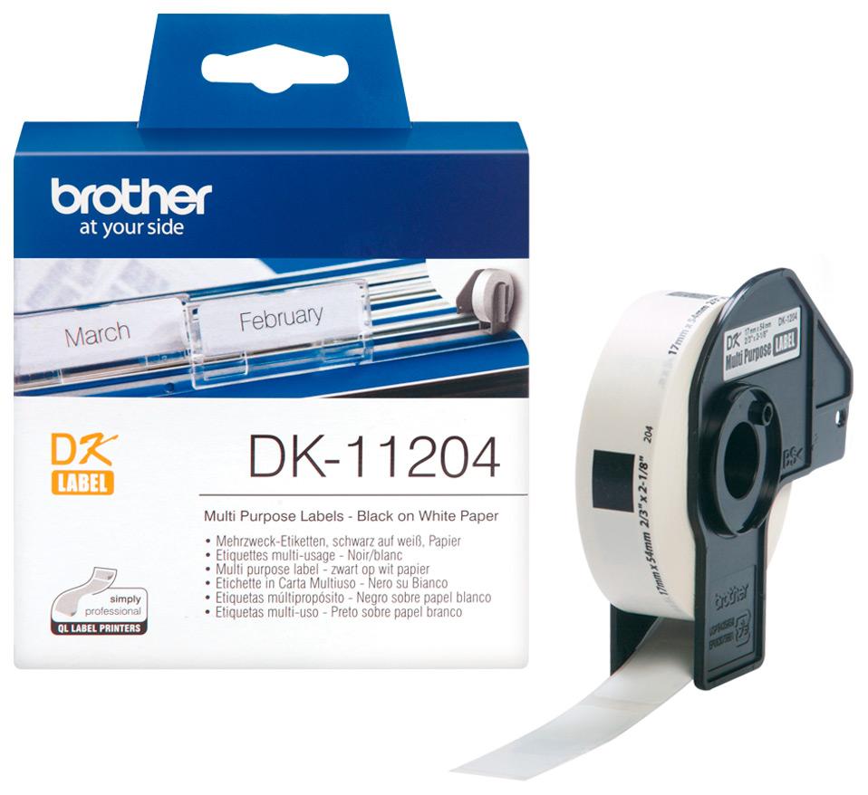 Наклейка Brother DK11204 Черный