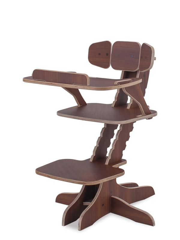 Растущий детский стул Kandle BabySmart со столиком орех