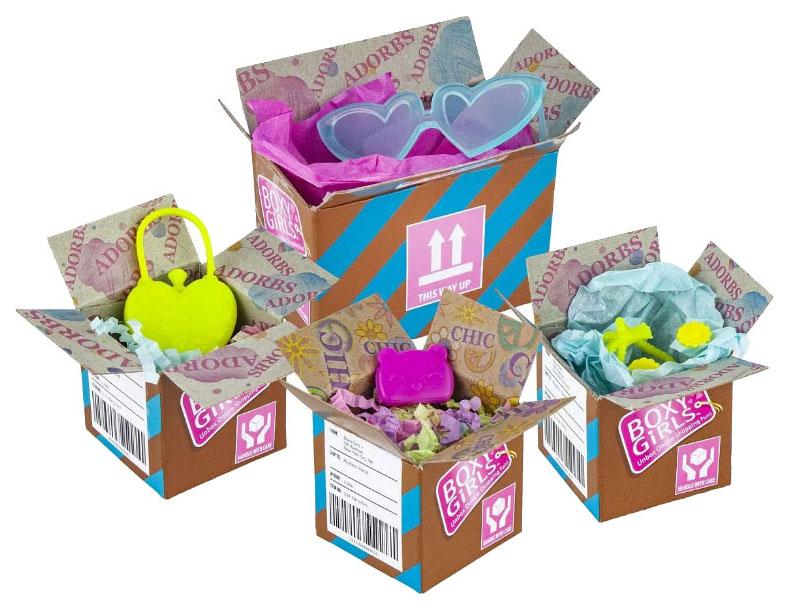 Купить Набор из 4 посылок с сюрпризом Boxy Girls 1TOY, 1 TOY, Аксессуары для кукол