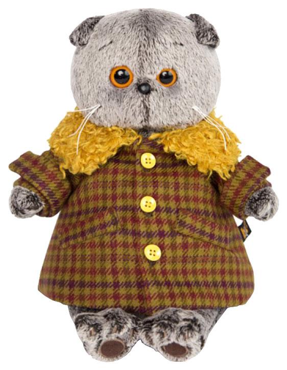 Мягкая игрушка BUDI BASA Басик в пальто с желтым меховым воротником, 19 см фото