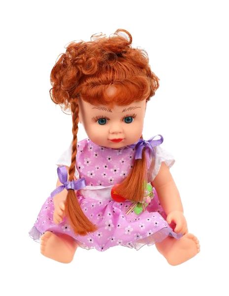 Купить Кукла с косичками Алина (звук), 19 см Shantou, Shantou Gepai, Классические куклы