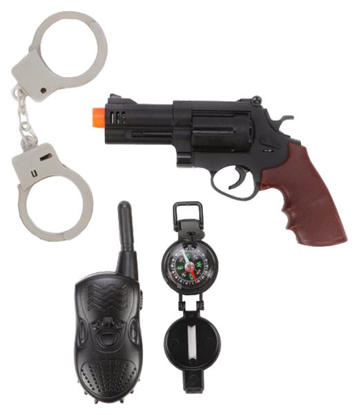 Купить Набор полицейского Наша игрушка револьвер, наручники, рация, компас, Детские наборы полицейского