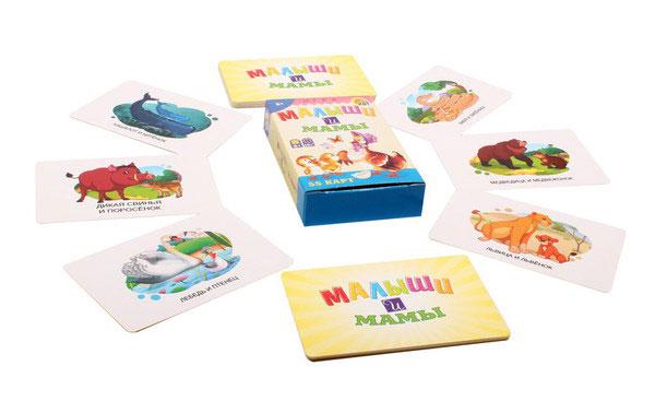 Купить РЫЖИЙ КОТ Карточная обучающая игра Малыши и мамы ИН-3787, Рыжий кот,