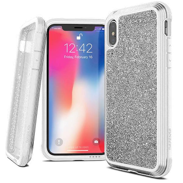 Чехол X-Doria Defense Lux для Apple iPhone Xs Max White glitter