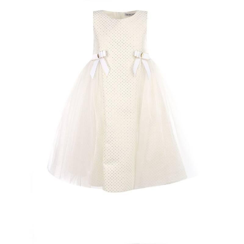 Купить 1550, Платье UNONA D'ART, цв. белый, 122 р-р, Платья для девочек