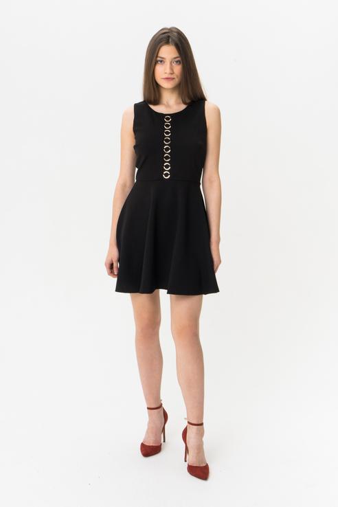 Платье женское GUESS JEANS W93K59K8RN0JBLK черное S