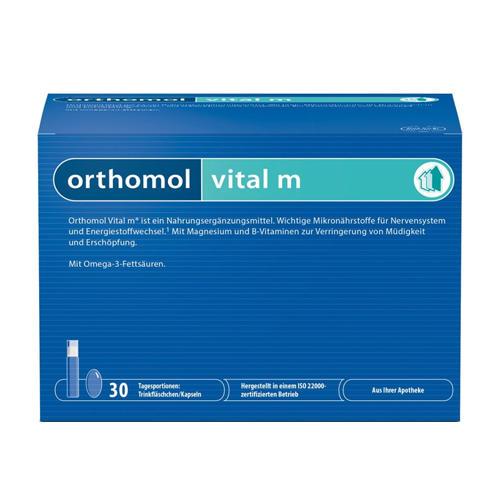 Купить Витал М, Vital M Orthomol жидкость фл. 20 мл + капсулы 800 мг + капсулы 700 мг 30 шт.