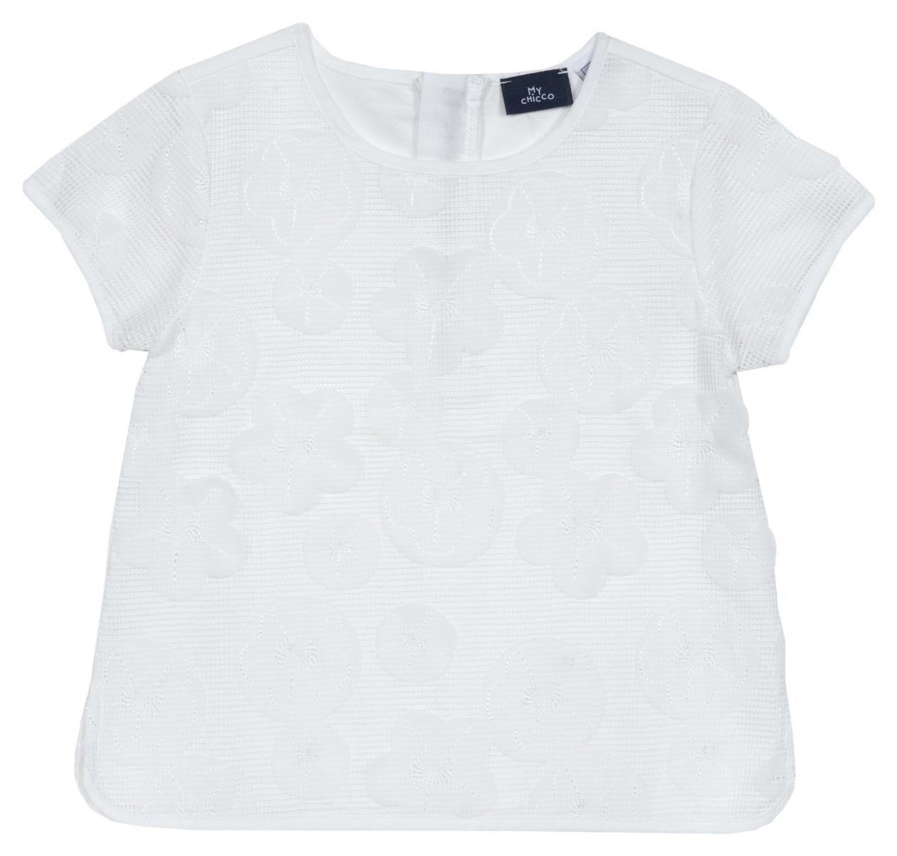 Блузка Chicco, р.92, цвет белый