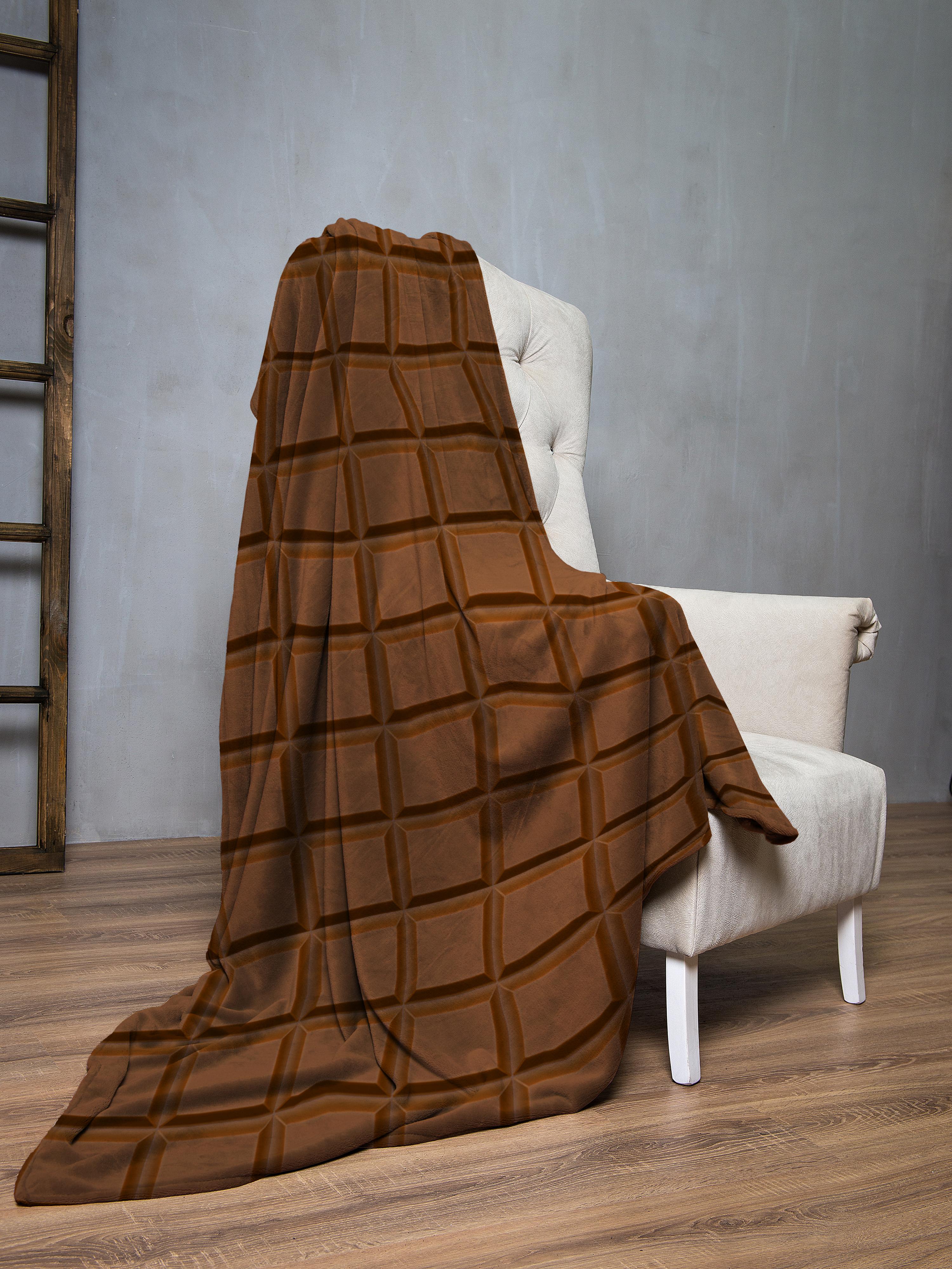 Плед флис Шоколад 145х200 IQ Komfort 8043123