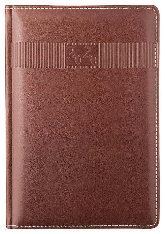 Ежедневник датированный на 2020 год Avanti, А5, 176 листов, линия, коричневый