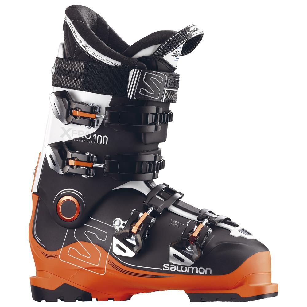 Горнолыжные ботинки Salomon X Pro 100 2018, black/orange, 25.5 фото