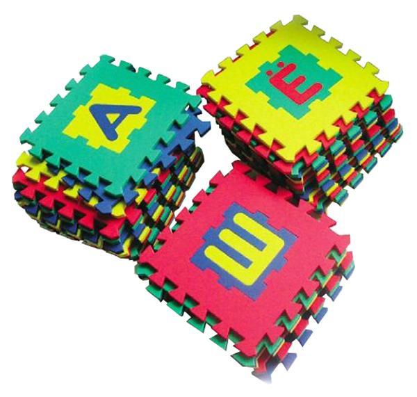 Купить Мир деревянных игрушек Коврик Алфавит 28х28 см. (32 буквы), арт. 410, Мир Деревянных Игрушек, Развивающие коврики и центры