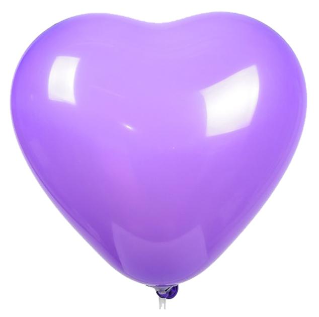 Купить Шар латексный 12 , сердце, пастель, набор 50 шт., цвет лиловый GLOBOS FESTIVAL S.A., Воздушные шарики