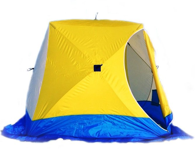 Палатка для зимней рыбалки Стэк Куб-2 трехслойная Long