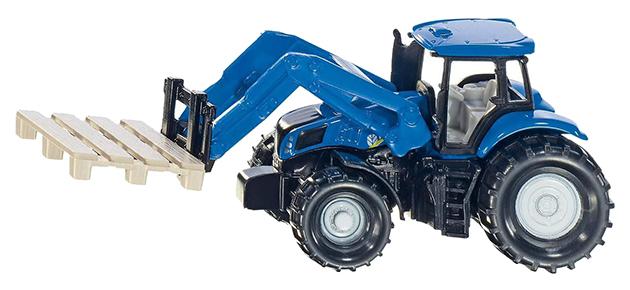 Купить Спецтехника Siku Трактор New Holland с вилами для поддонов 1:87 1487, Строительная техника