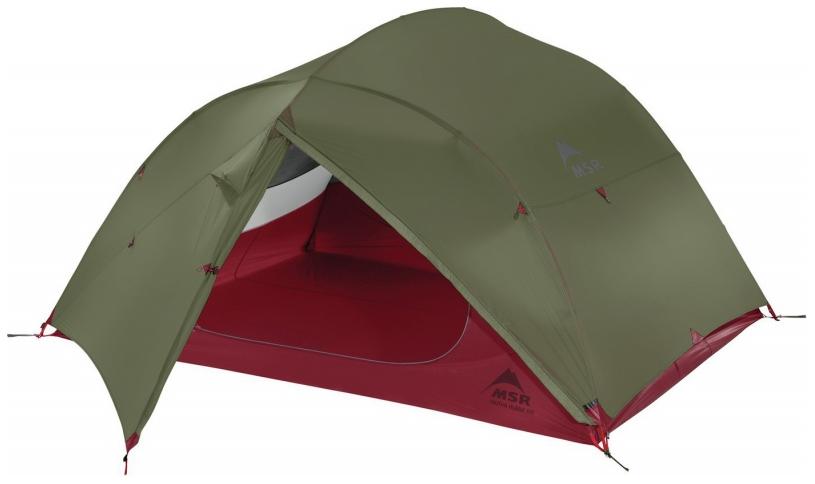 Палатка MSR Mutha Hubba NX трехместная зеленая