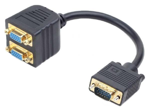 Переходник Gembird VGA на 2 порта CC-VGAX2-20CM VGAHD15M-2*15F