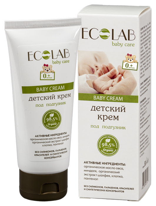 Детский крем Ecolab 0+ под подгузник 100 мл
