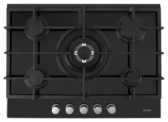 Встраиваемая варочная панель газовая Simfer H70N51S512 Black