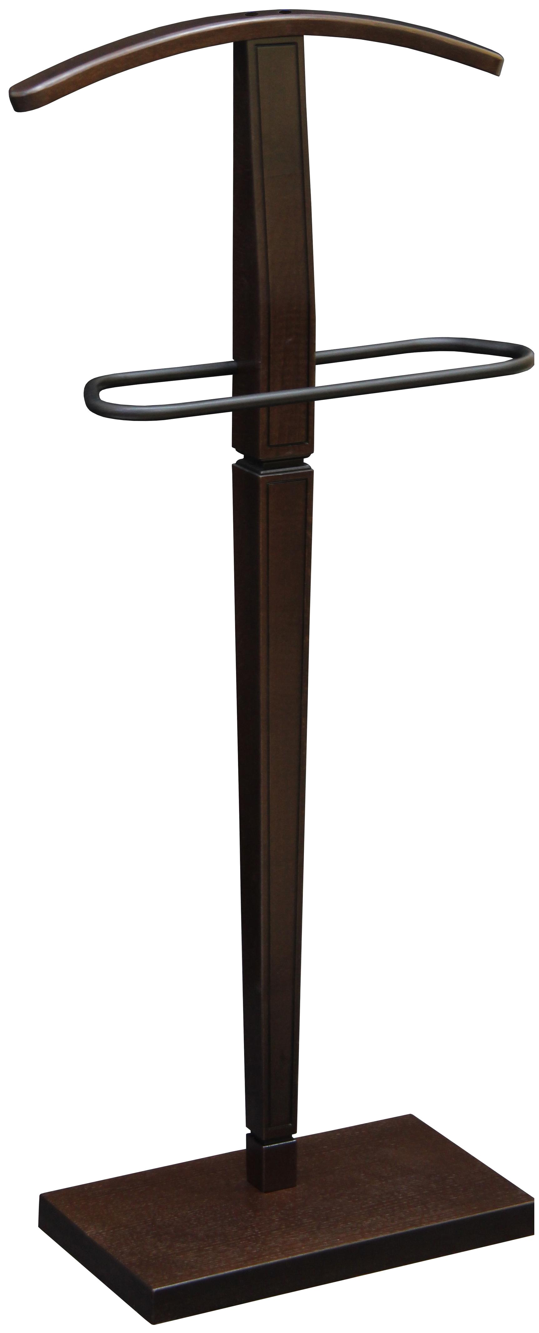 Вешалка напольная Мебелик Васко В 70 Темно-коричневый/Патина
