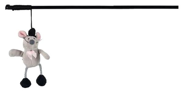 Игрушка для кошек Trixie Удочка с пищащей мышью 45803 фото