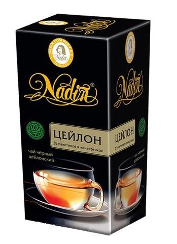 Чай черный Nadin цейлон 25 пакетиков