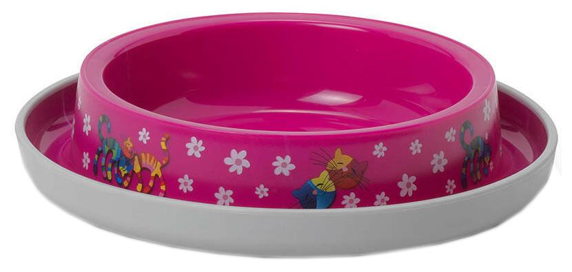 Одинарная миска для кошек MODERNA, пластик, розовый,