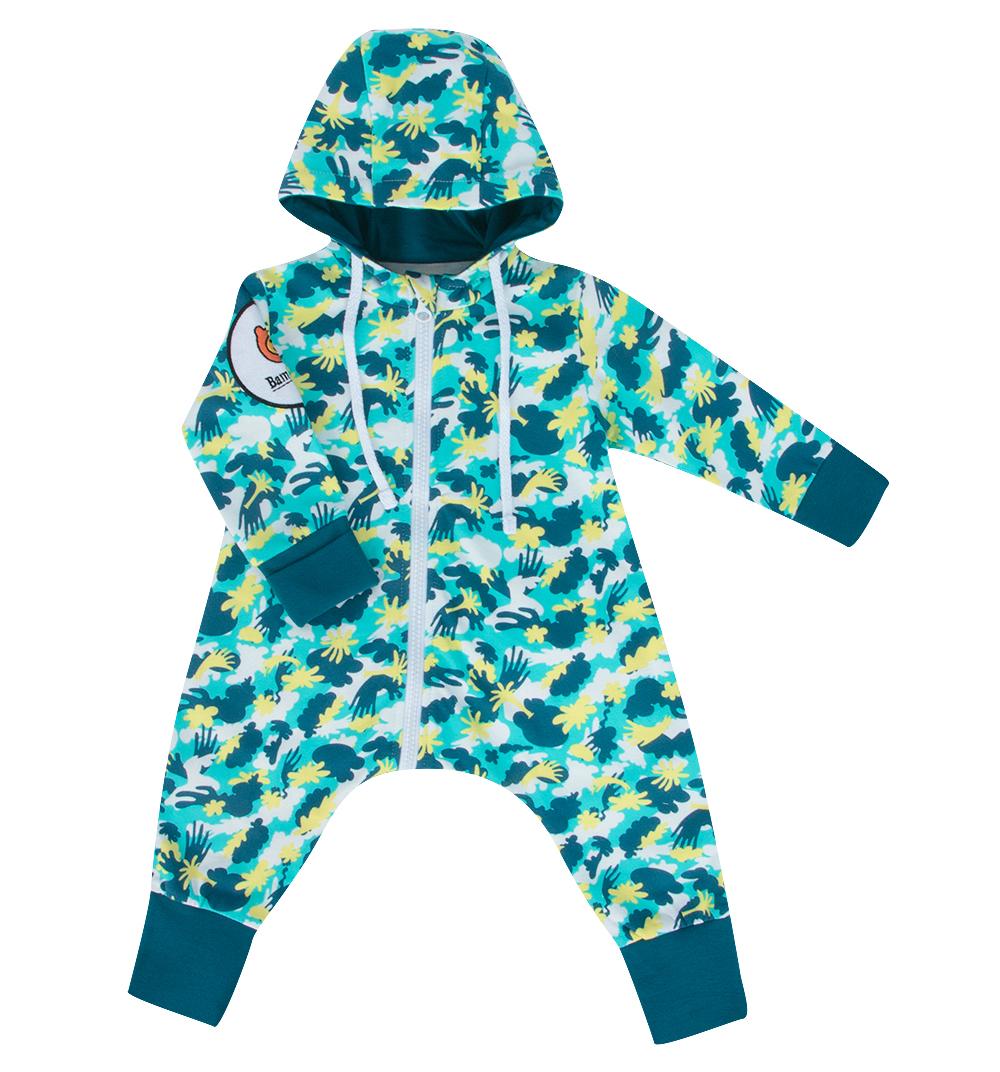 Комбинезон Bambinizon из футера Милитари ТКМ-МЛТ-БИР р.62, Слипы и комбинезоны для новорожденных  - купить со скидкой