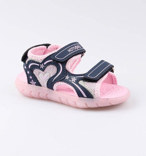 Купить Пляжная обувь Котофей для девочки р.27 324015-11 синий, Шлепанцы и сланцы детские