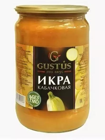 Икра кабачковая Gustus стекло 660 г