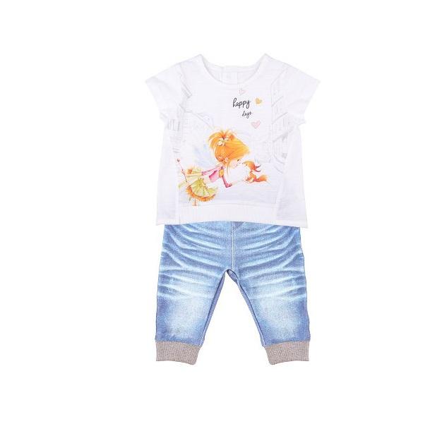 Комплект 2 пр. Папитто для девочки Fashion Jeans 522-04 р.22-68