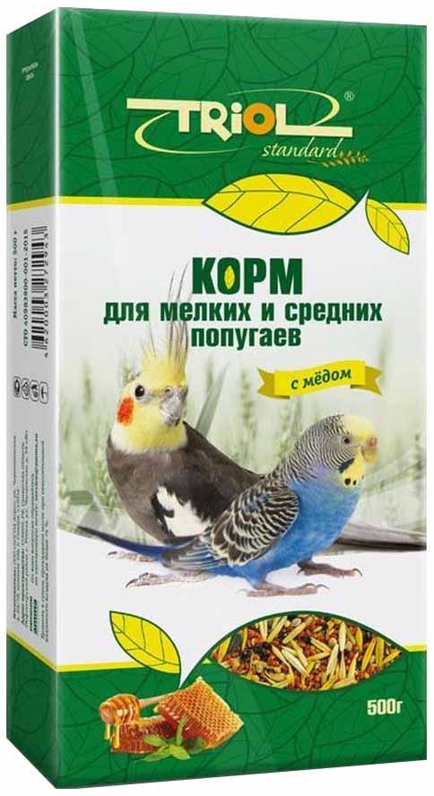Корм Тriol Standard для мелких и средних попугаев с мёдом 500 г