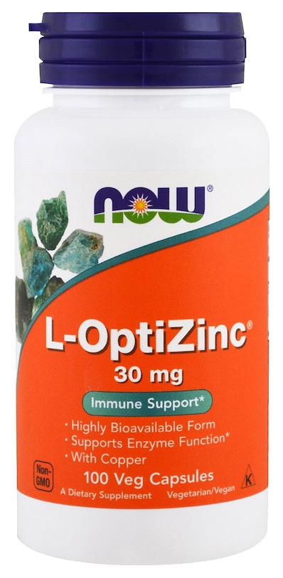 Купить Цинк NOW L-OptiZinc 100 капс.