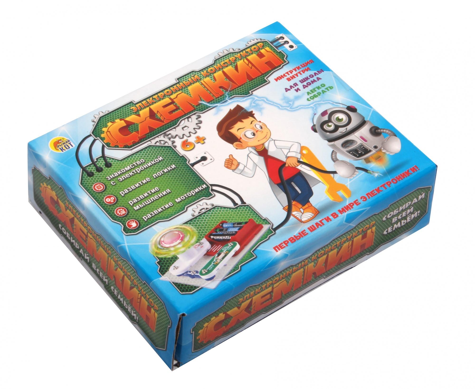 Купить РЫЖИЙ КОТ Конструктор электронный Схемкин. Звуковой динамик, 5 деталей К-6011, Рыжий кот, Детские конструкторы