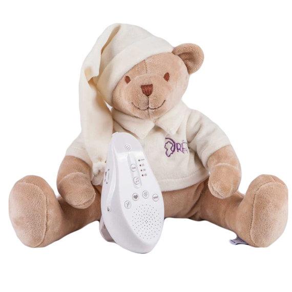 Игрушка-комфортер Мишка DrЁma BabyDou для сна, с белым и розовым шумом, бежевый 101, Drёma babydou, Комфортеры для новорожденных  - купить со скидкой